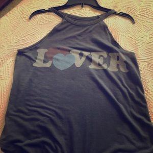 Dark grey Lover tank top